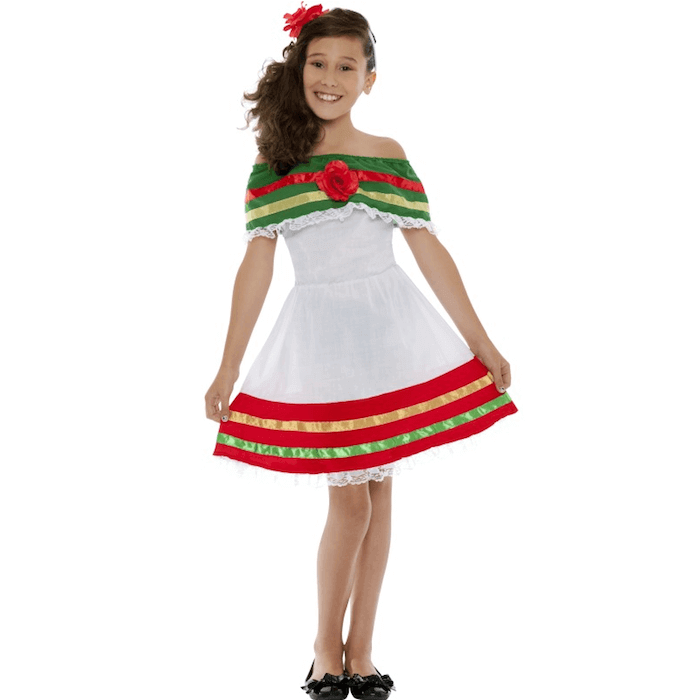Mexican girl costume - Hokey Cokey Party Shop