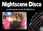 Nightscene Disco logo professional sound and lightshow