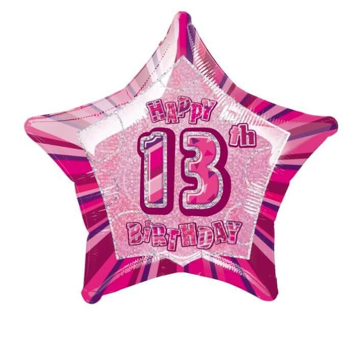 13th Birthday Balloon Helium
