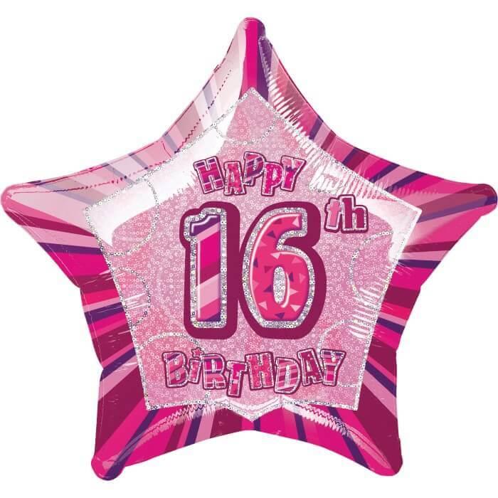16th Birthday Balloon Helium Foil