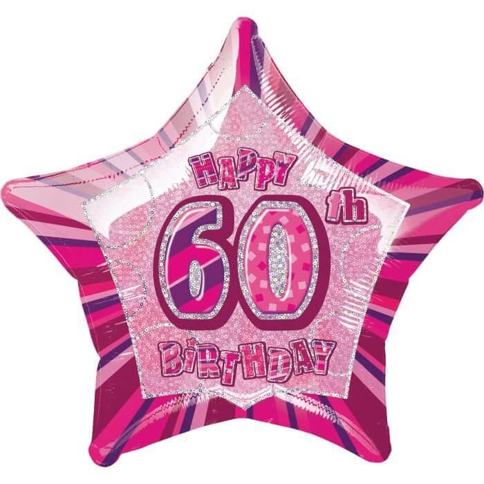 60th Birthday Balloon Foil Helium