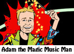 Adam Magic Music Man Children's Entertainer and Magician website