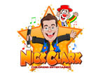 Nick Clark logo children's entertainer, clown and magician