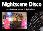 Nightscene Disco logo professional sound and lightshow