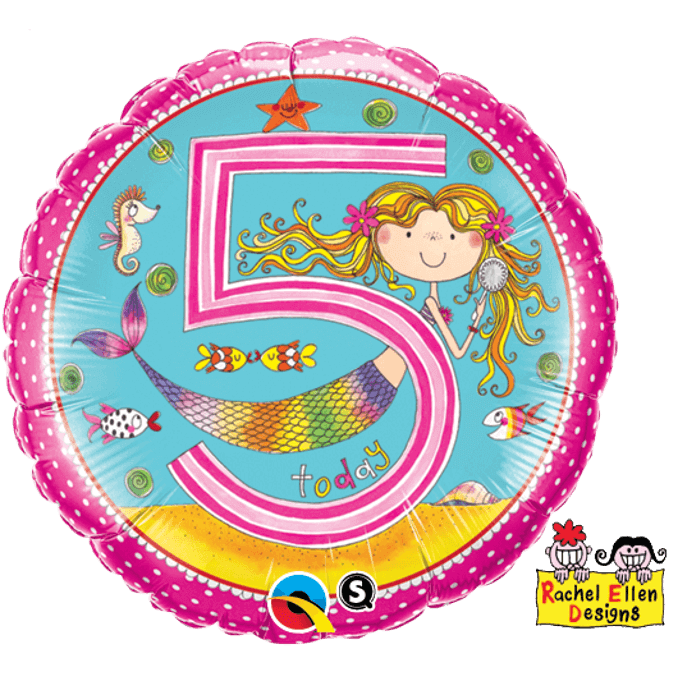 Girls 5th Birthday Balloon