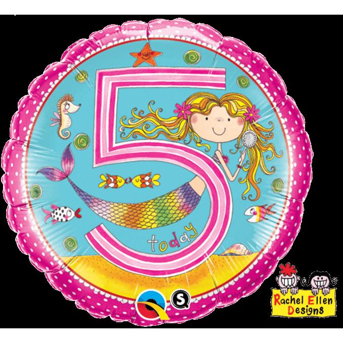 Girls 5th Birthday Balloon