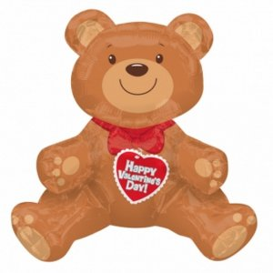 Sitting-Bear-Valentines-Balloon