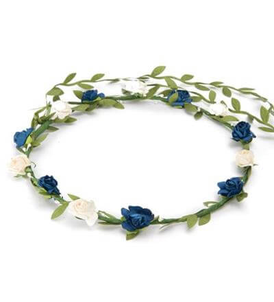 Blue And White Flower Crown  586fc8fb744