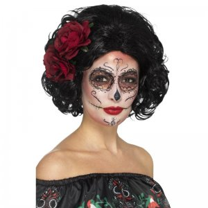 Deluxe Day-of-the-Dead-Doll-Wig