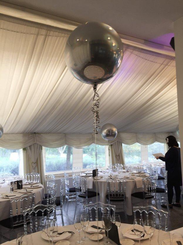 Silver Round Orbz Balloon