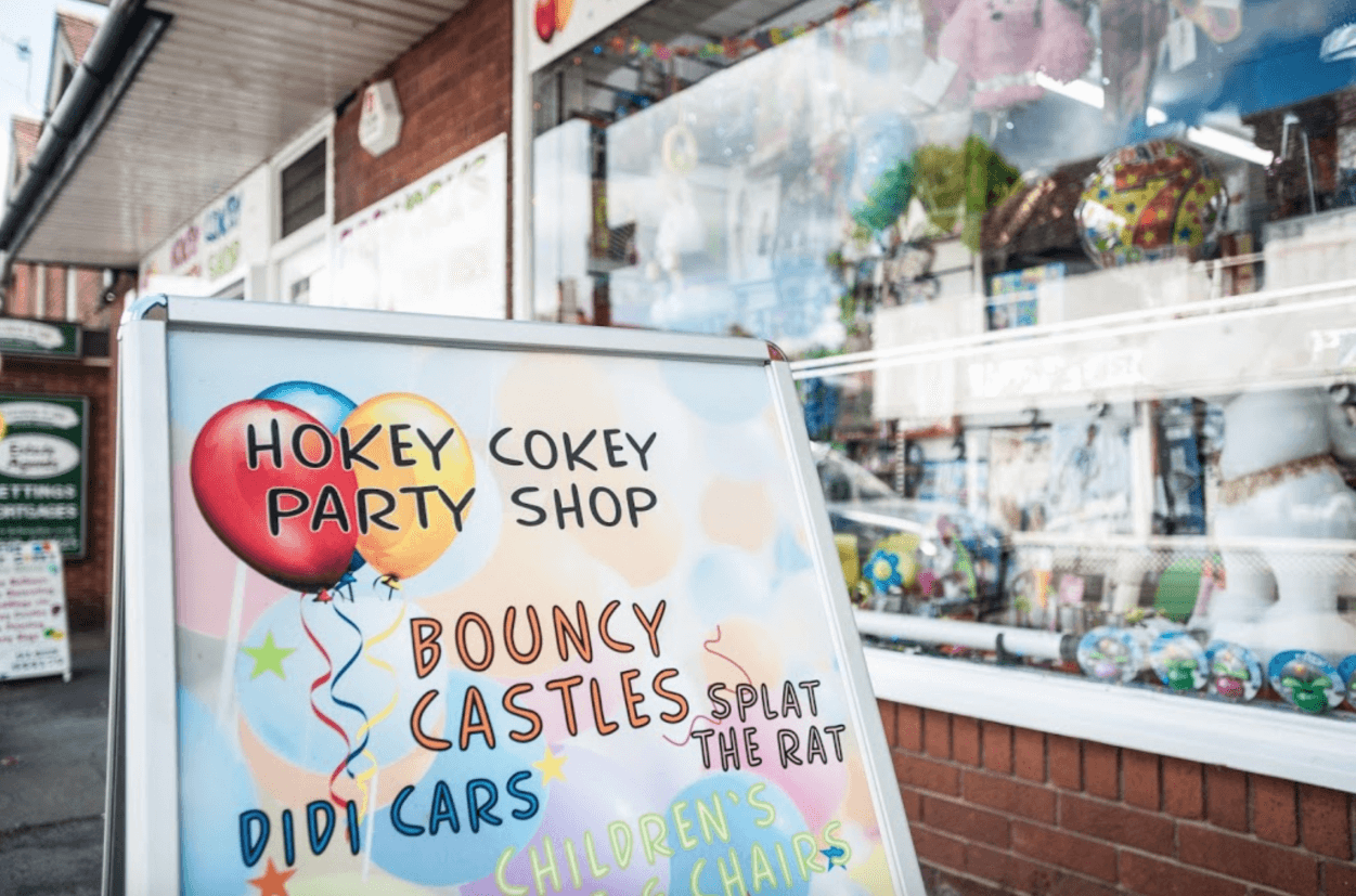 Hokey Cokey Party Shop Sign Haslemere