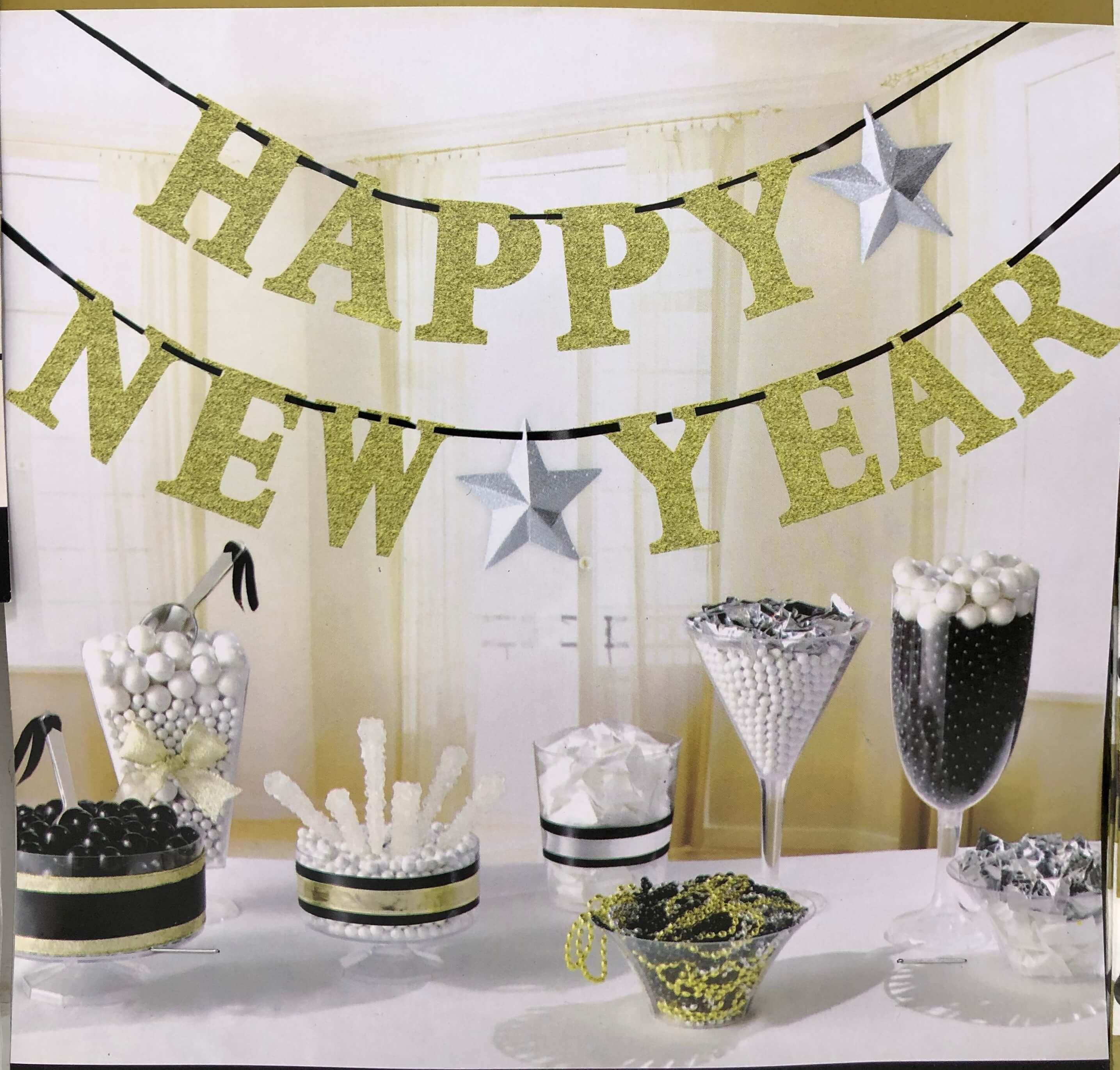 Happy New Year decorations